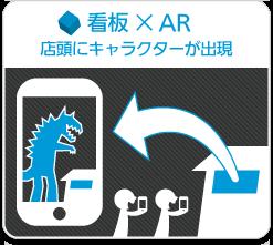 看板×AR/店舗にキャラクターが出現
